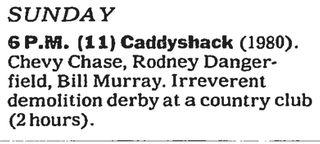 CaddyshackListing 1988